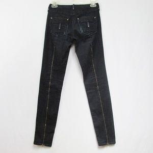 Twenty8Twelve | Dark Blue Full Leg Zip Bolen Jeans